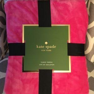 Kate Spade Hot Pink Throw/Blanket